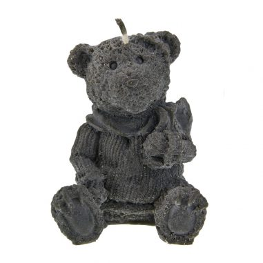 Bär mit Schal schwarz